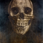 21120531170146021119 - Evans, The Benjamin Skull, Hand etched by knife on leather, 167cm x 167cm, 2011