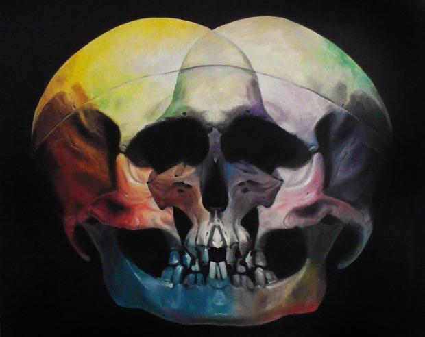 DEATH HEAD DEVOTION: 'Love' by Patrick Henne.#skulls