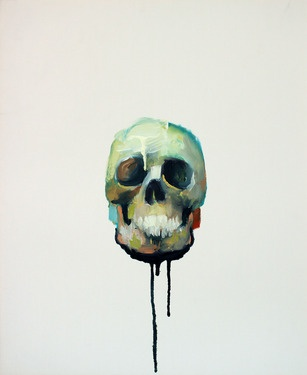 DEATH HEAD DEVOTION: #Skull painting by Benjamin Mis