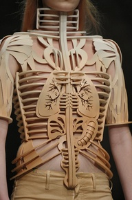 LEATHER LOVE! #leather skeleton by Manish Arora S/S12