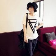 2013-fashion-tops-short-triangle-printing-casual-clothing-woman-t-shirt-girls-t-shirt-Free-shipping