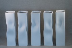 Series-of-5-porcelain-Pinch-Vases-by-Sue-Newell-300x200