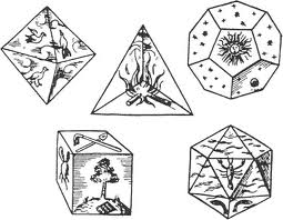 how to draw the 5 platonic solids