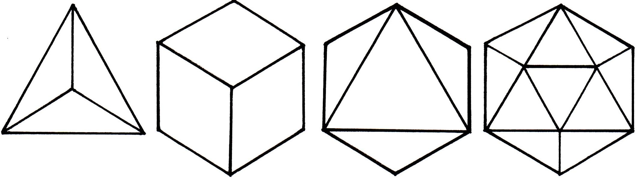 symbolism. the platonic solids. | | inkspiration |