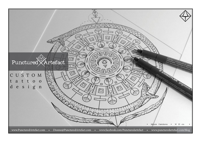 Symbolic Ink Ouroboros Inkspiration